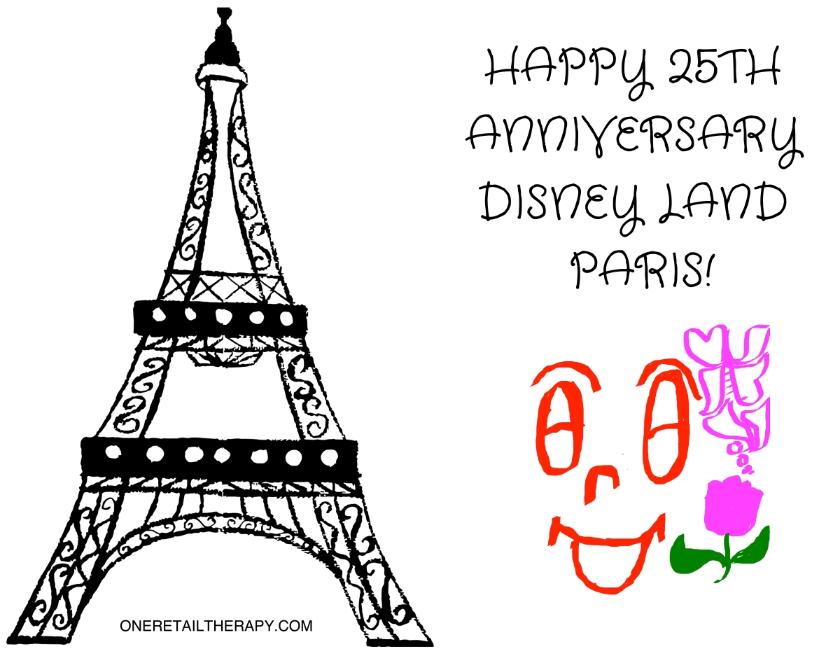 HAPPY 25TH ANNIVERSARY DISNEY LAND PARIS!